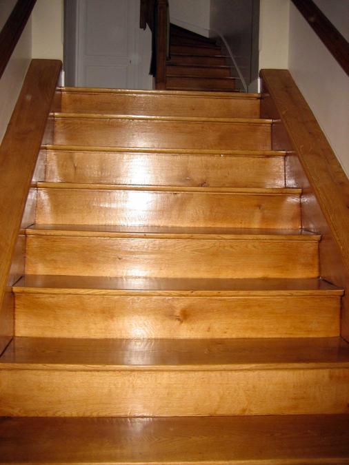 Pose de parquet pour ecaliers