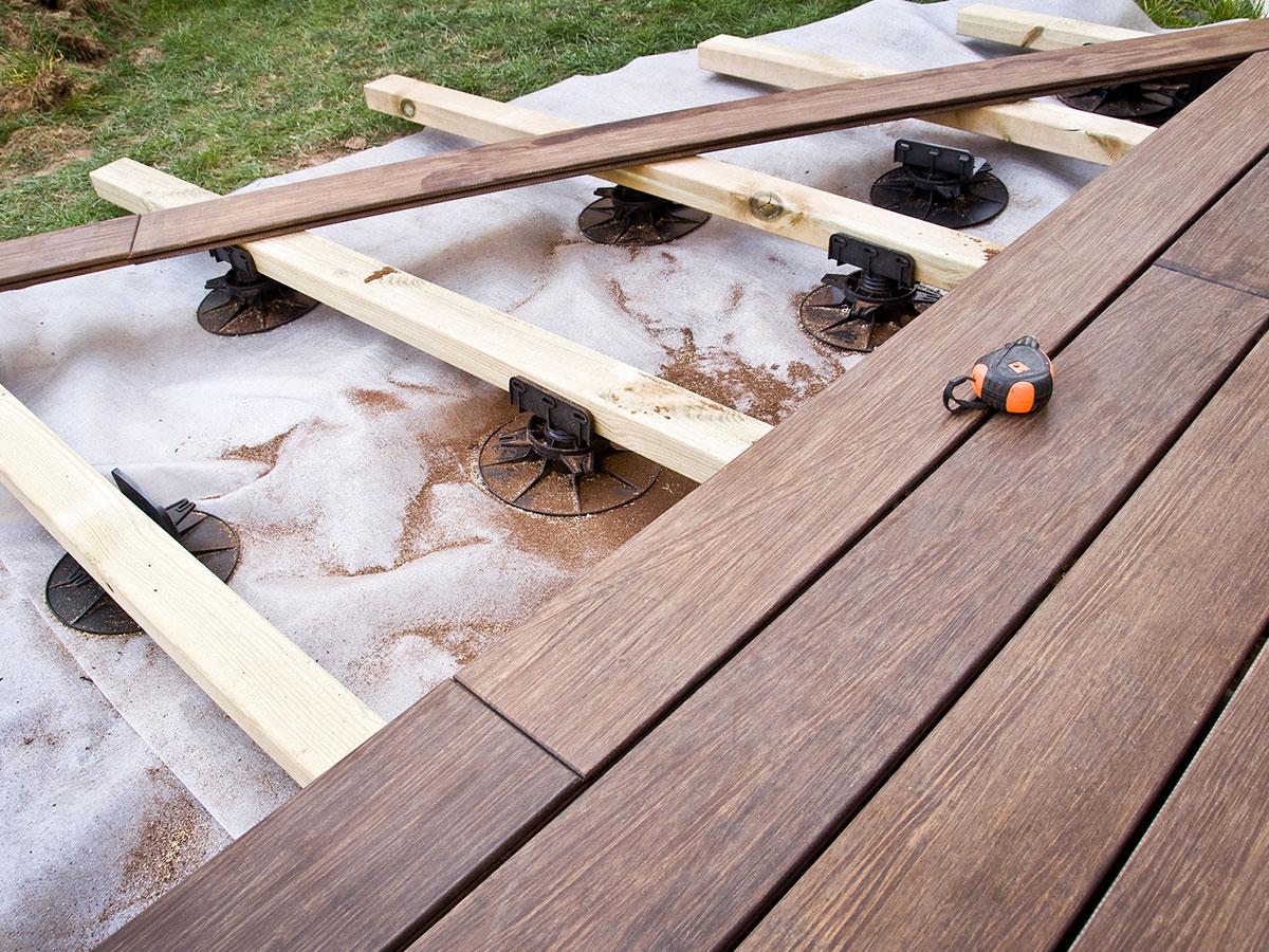 Mise en place d'une terrasse en bois