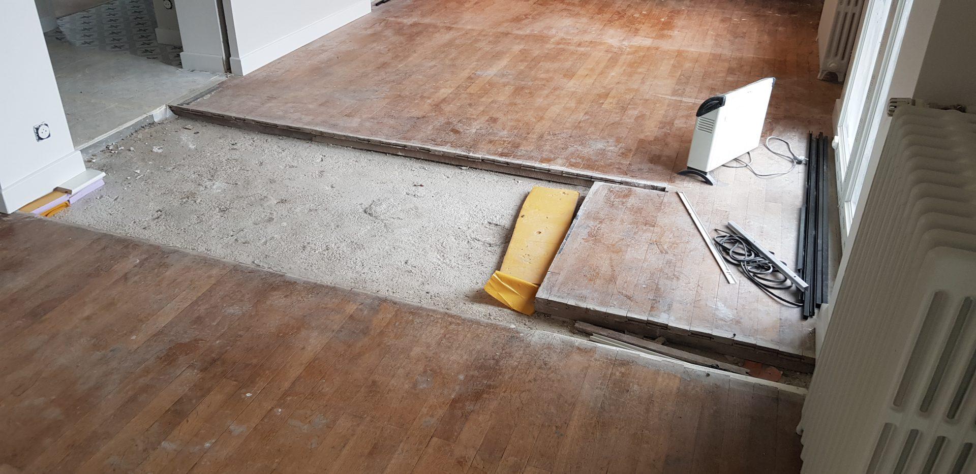 La rénovation d'un parquet par la société Goubard